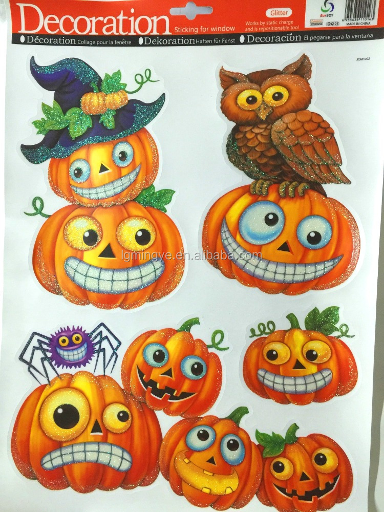 Custom pvc halloween sticker car window sticker custom made static cling decal stickers