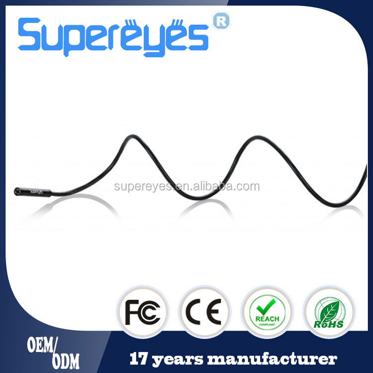 Supereyes N015 15M 43 FT waterproof 7mm 100X portable usb snake tube endoscope borescope inspection camera with reflectors LED