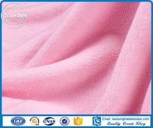 100% polyester solid knitted flannel fabric