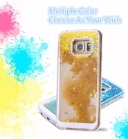 Moving liquid Glitter phone case for iphone5/6/6+,for samsung galaxy note 3 case