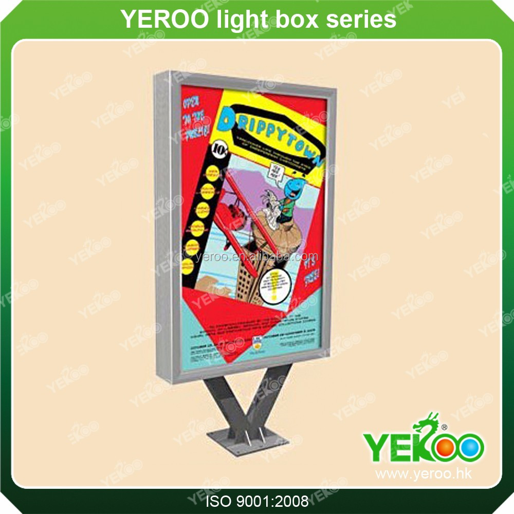 poster light box advertising solar display stand