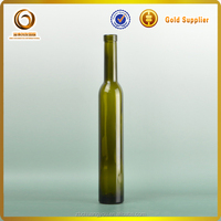 Wholesale popular cheap cork top 375ML long neck ice wine glass bottle