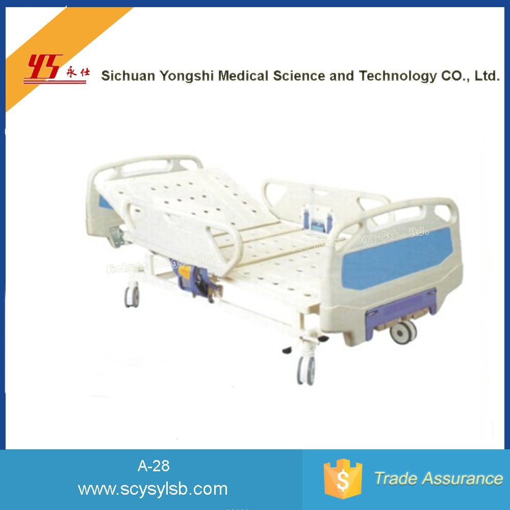 Durable Steel Frame Manual Hospital Folding Crank Patient Bed Fowler for Sale