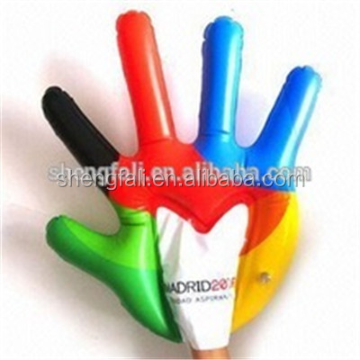 Advertising custom giant cheer inflatable hand