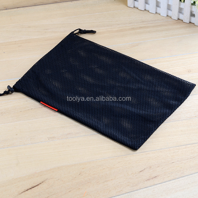 Wholesale cheap promotional custom nylon mesh drawstring bags