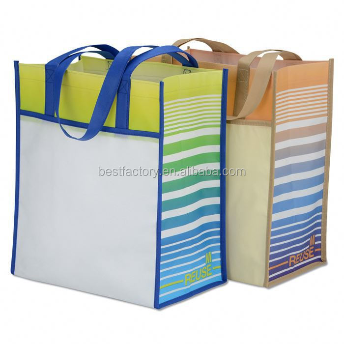 fully display logo coted woven bags