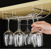 Hanging Wine Glass Rack Drinking Glasses Storage Steel Holder Under Cabinet