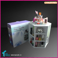 Alibaba Express Wholesale Storage Beauty & Personal Care Rotating Cosmetic Display,Acrylic Cosmetics Display Unit