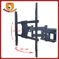 Strongly Dual Arms Full Motion Adjustable Cold Rolled Steel Metal Standard TV Mount Bracket For 50 - 72 Inch Flat Panel