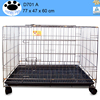 plastic & wire black new portable foldable animal dog puppy metal dog kennels uk