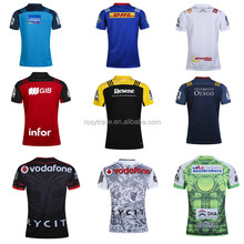 All New Zealand digital printing stiped rugby jersey league jerseys with black and other color
