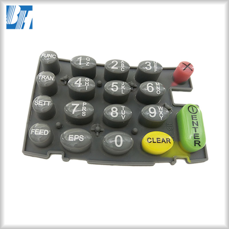 Customize Epoxy Dripping POS Silicone Rubber Membrane Keypad