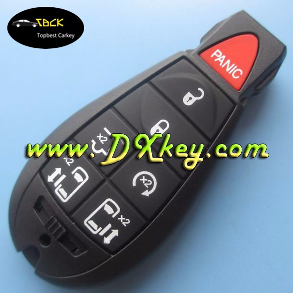 6+1 button auto key smart for Chrysler 433mhz remote control ID46 CHIP