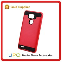 [UPO] 2 in 1 Shockproof Brushed Hard Plastic PC TPU Armor Mobile Covers Case for Huawei Ascend Mate 7