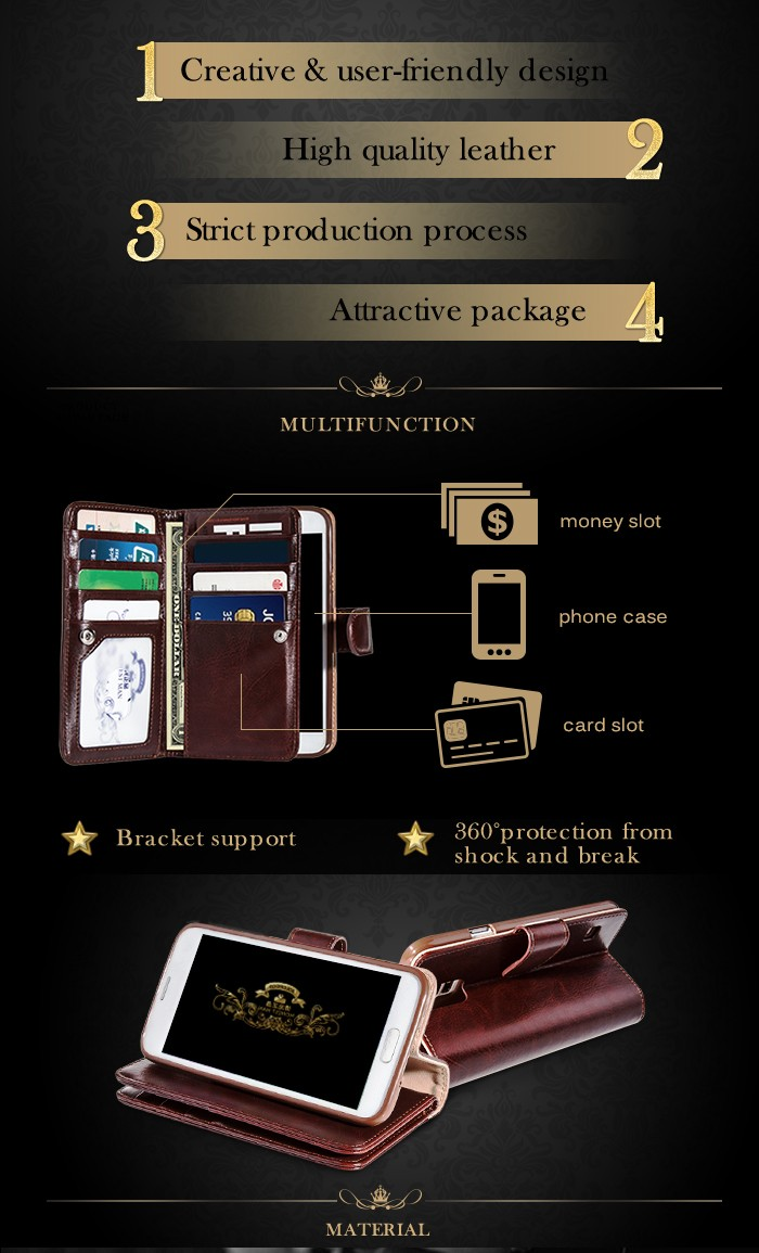 Professional factory wholesale Most Popular for iphone 7 plus PU leather wallet phone cover