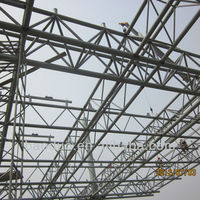 large span prefabricated steel structural frame truss