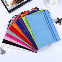 Modern Double Layer A4 Canvas Oxford Cloth Zipper Paper File Folder Book Pencil Pen Case Bag Waterproof File Document Bags
