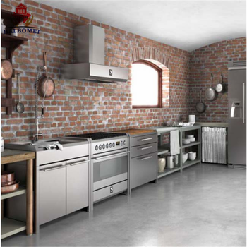 Bomei Manufacturer Customized Modern European design Commercial and Household Aluminium Kitchen Cabinet