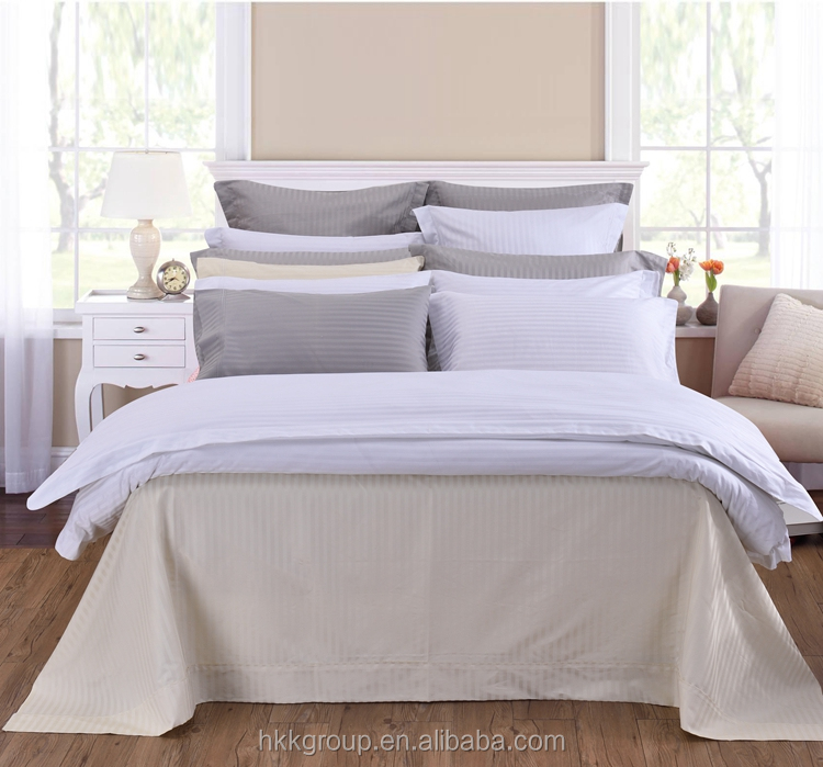 top selling 100% Egyptian stripe luxury bedding set hotel bed linen