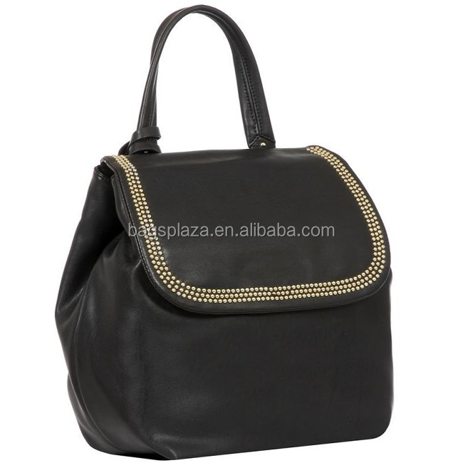 alibaba china made in china CC44-087 leather purse bag ladies fashion leather black bag backpack