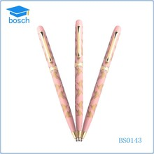 Twist action pink color metal pen ballpoint pen manufacturer