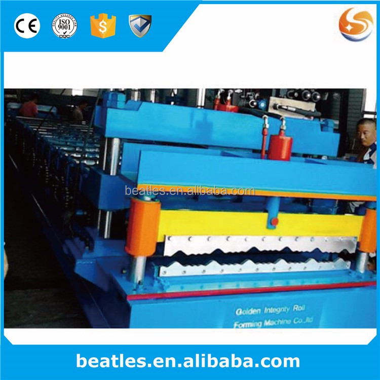 Corrugated Tile Roll Forming Machine PPGI Roofing Sheet Making Machine