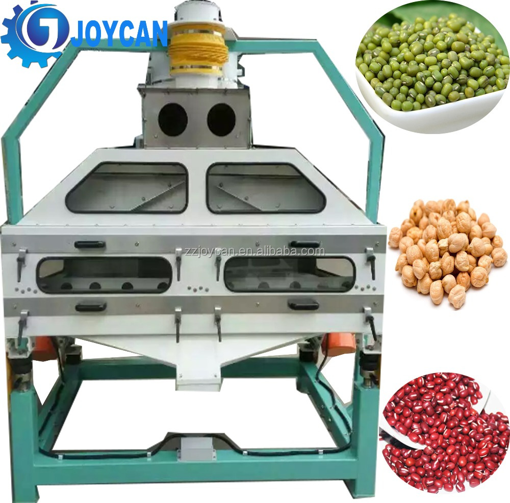 Gravity grading remove rubbish for seed cleaning grain stone removing machine