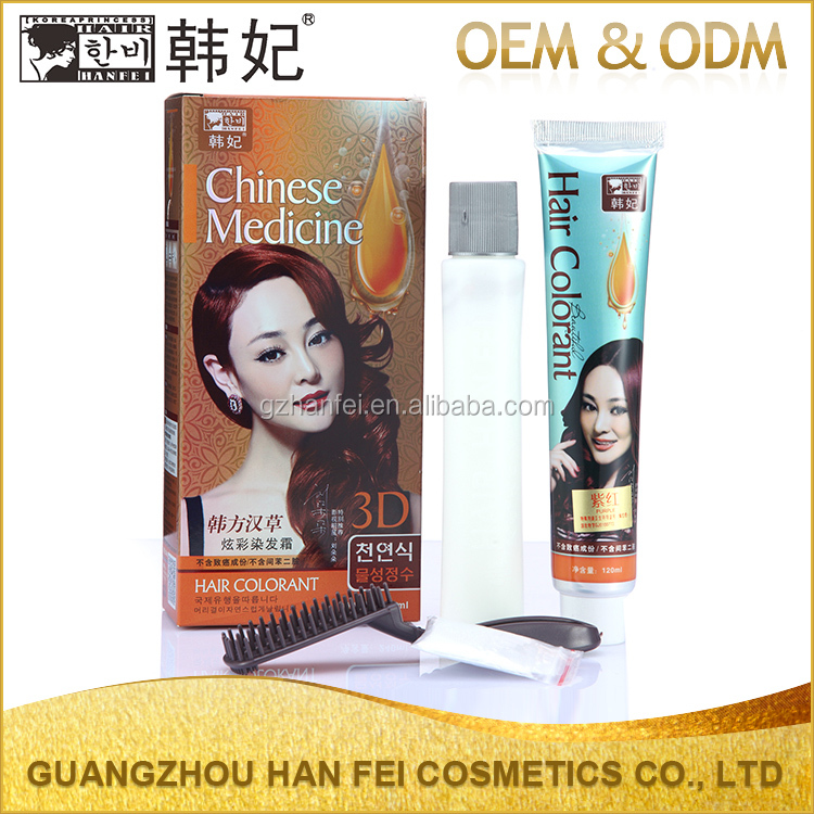 Private lable wholesale bright hair dye herbal non-toxic shinning hair coloring