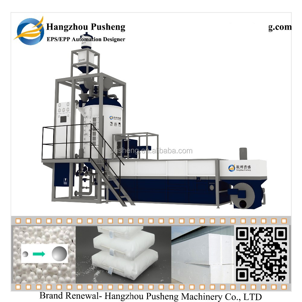 Hangzhou Pusheng High Efficiency Polystyrene Expander machine Eps Beads/Eps Box/Eps Block