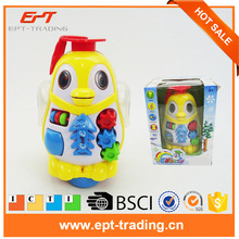 New electric educational animal toy wholesale light up music penguin toy for sale