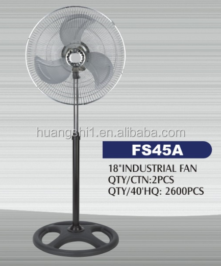 High Quality CCA Motor Design 18inch 70W Industrial Air Conditioning Stand Fan With Round Base