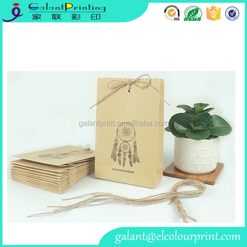 Kraft Paper Gift Bag Professional Suppliers Indian Dream Catcher Paper Packaging With OEM Printing