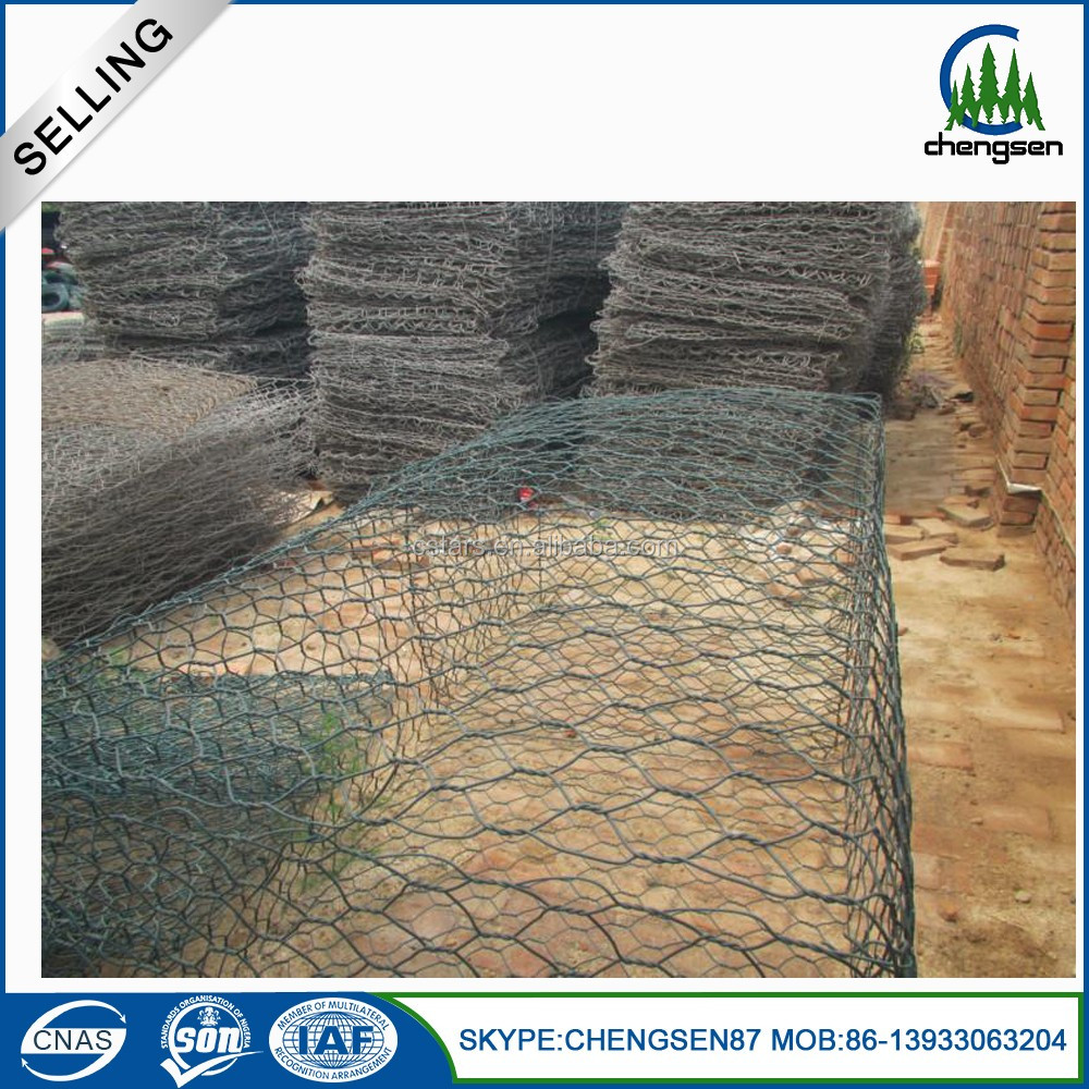 PVC coated Hexagonal gabion basket mesh