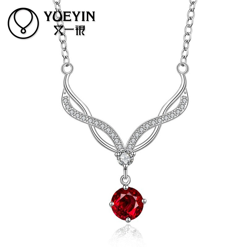 Stylish <strong>100</strong> pieces MOQ Silver High End Fashion Jewelry Necklace Wholesale