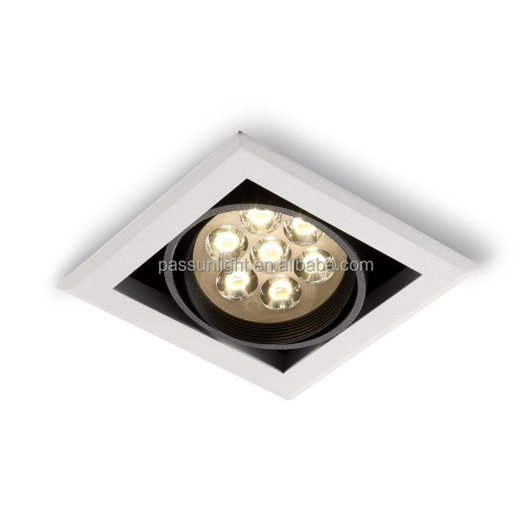 Adjustable 7x1W modern square led spot light 7W/square led recessed light