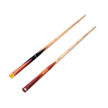 Economic 3/4 jointed handmade ash wood snooker cue, billiard cue with good quality