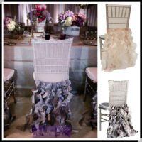 Curly willow chair sash ruffled wedding chair cover chiavari chair covers for wedding