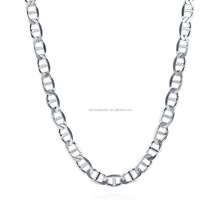 yiwu factory pure necklace 925 sterling silver chain,Cheap price 925 silver china