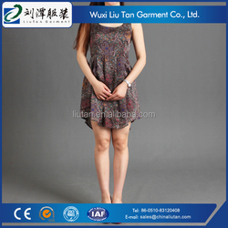 slippery fit and flare dress oem factory