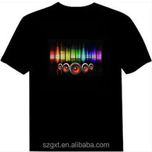 customize design led t shirts online / led t shirts wholesale led t shirt equalizer