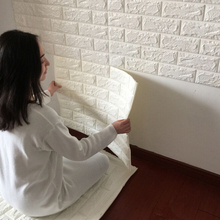 Removable self-adhesive home decoration waterproof brick 3d wallpaper