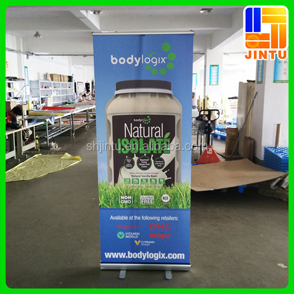 portable roll up banner stand/pull up display for trade shows