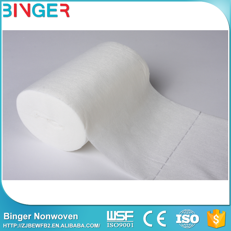bamboo fiber household soft towel roll with dot line
