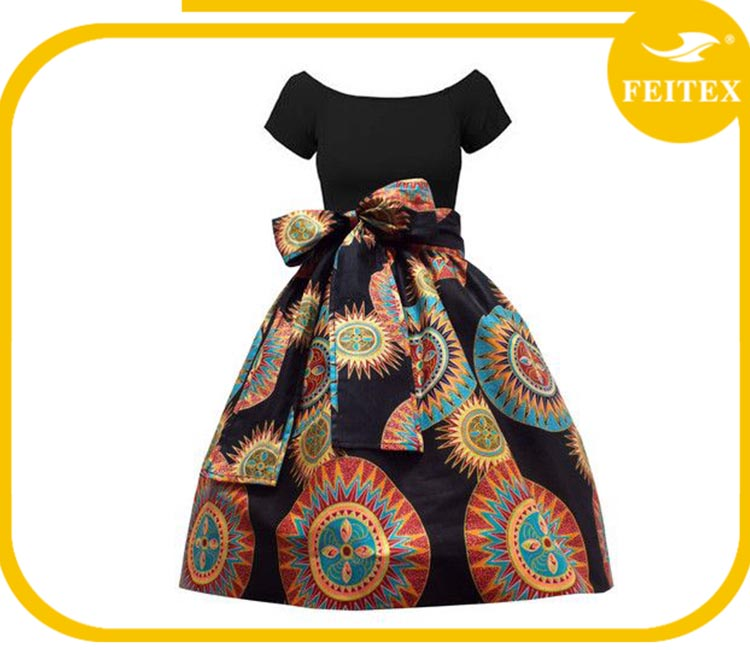 Popular african wax fabric wholesale african printed fabric for women party dress