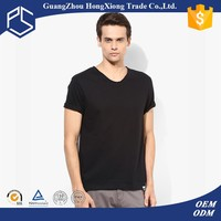 Cheap bulk wholesale plain dyed black t shirt