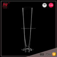 Premium quality new coming cheap clear tall glass vases for flowers
