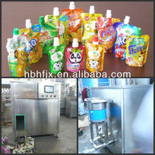 Blueberry Juice security doypack bag with spout filling capping machine with production line