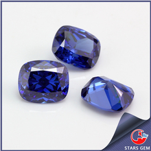 high quality rectangle shape customized blue cubic zirconia