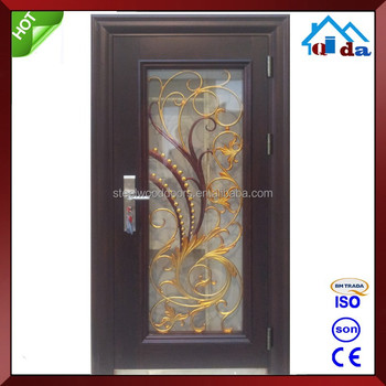 High Quality Safety Wrought Iron Entry Door
