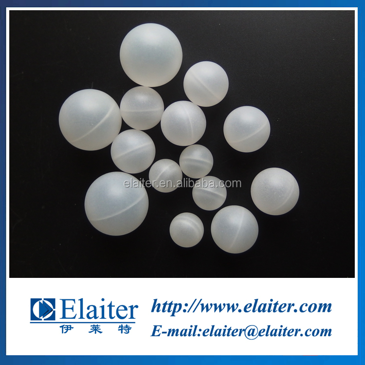 HDPE Plastic smooth round hollow demister ball for copper industry demisting